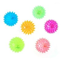 Flashing Light Up Lovely Dog Puppies Cat Pet Hedgehog Ball Rubber Bell Sound Ball Creative Funny Playing Toy For Pets Enjoyable1