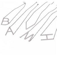 Konak Satış Sideways Kişiselleştirilmiş Mektubu Adı İlk Altın Gümüş Kaplama Paslanmaz Çelik Kolye Kolye F WMTWTD Bütün2019