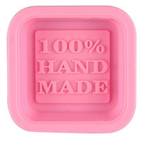 Moldes de jabón 100% hechos a mano DIY Moldes de silicona cuadrados DIY Molde de hornear Artesanía artesanal Herramienta de fabricación de tinte DIY Molde CCD2995