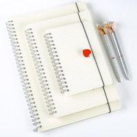 Notepades Coréen Spiral Notebook Notebook Bloc doublé Planificateur en pointillé Diary Accessoire Agenda Journal B4 A5 A6 Notepad Sketchbook Dessin