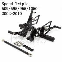 Pedallar Ayarlanabilir Footrest Motosiklet Motosiklet Pedalı Ön Footpeg Rearset Arka Seti için Hız Üçlü 509 595 955 1050