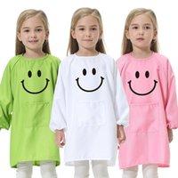 مطبخ مرايل للأطفال الطبخ الخبز الطلاء البوليستر الملابس كيد مكافحة ارتداء الجلباب الطفل الأكل طباعة LOGO