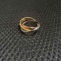 Nueva marca de moda de acero inoxidable 3 anillo de anillo 18k personalidad Amantes de alta calidad Regalo de los amigos de los amigos Regalos