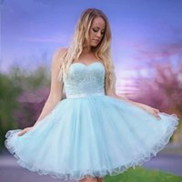 Lace Tulle A Line Homecoming Party Bride Gowns Sweetheart Zipper Back Short Prom Dresses Cheap Club Wear Vestidos