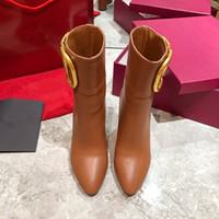 Chaud Sale-Luxe Mode Femmes Femmes Chaussures Chaussures Chaussures pointues Haute Chaussures Chaussures Femmes Bottines Femme Bottes d'hiver Dames Livraison Gratuite