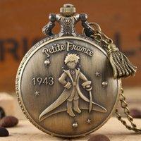 Retro 1943 França O Pouco Príncipe Quartz Bolso Relógio FOB Colar Relógios Pingente Pingente Presentes Para Crianças Com Tassel Acessório