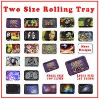 Bandeja de dois tamanhos de rolamento Bob Marley bandejas ao longo de 20 páternas para rolar papéis de fumo tubo moedor de erva