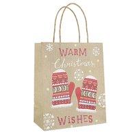 Weihnachtsgeschenk Kraftpapier Tasche Kreative Bronzing Niedliche Cartoon Weihnachten Verpackung Einkaufstasche GGB2675