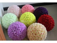 30cm 12inch Elegant Artificial Rose Silk Flower Ball Hanging Kissing Balls For Wedding Party Decoration Supplies Multicolor