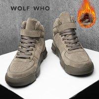 WF Süper Sıcak Kış Erkekler Çizmeler Yüksek Kaliteli Sonbahar Kar Botları Erkek Su Geçirmez Yumuşak PU Deri Ayakkabı Erkekler Ayak Bileği Çizmeler X-022 201215