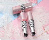 100pcs / lot Colore rosa di colore di alta qualità Tubo di rossetto vuoto 12.1mm Contenitore Balsamo labbra Piccolo cosmetico lucido sotto-bottiglia