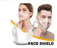 Быстрая езда на велосипеде Доставка прочный Masque Máchara 2020 Shield Комбинированная пластиковая многоразовая прозрачная прозрачная маска для лица повязка