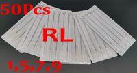 Drop Shipping 50pcs Pack 1RL 5RL 7RL 9RL Aghi per tatuaggi sterili assortiti Agri monouso