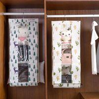 Foldable Hanging Bag Storage Organizer Bag Handbag Tidy Organizer Wardrobe Closet Sundry Hanger Linen Storage Cotton Purse New Clruh