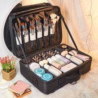 Lhlysgs Marke Kosmetiktasche Frauen Schönheit Organizer Professionelle kosmetische Hülle Reisen notwendig Wasserdichte Lagerung Makeup Bag 210226
