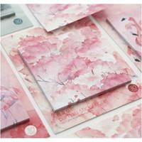 Mohamm 30 folhas de cerejeira Flor Flamingo Planner Adesivos Sticky Notas Memo Pad Kawaii Papelaria Memo Pads Note Pad Office F SqCozs
