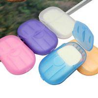 Одноразовые мыльные бумаги портативные ручные стиральные таблетки путешествия мыль для мыла бумаги моющаяся ручная ванна портативное пенообразное пенообразное мыло 200 шт. T1i3098