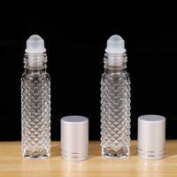 10ml rutschfeste ätherische Ölwalzen-Flaschen leerer Glasrolle auf ätherischer Öl Parfüm Flasche Essenz Reise-Container RRD3003
