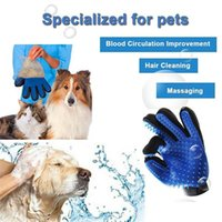 Pet Dog Supplies Grooming Glove Cat Silicone Brush Comb Shed Hair Remove Deshedding Gloves Animal Bath Cleaning Mitt Massage Tool YL0244