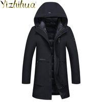 남성용 다운 파카 Azazel 2021 의류 겨울 자켓 남성 의류 두꺼운 후드 자켓 야외 코트 Chaqueta Hombre LXR624