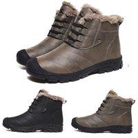 Caldo poco costoso di cuoio progettista style5 morbido grigio nero più velluto INN01 uomo ragazzo degli uomini stivali da tennis del Mens Boot addestratori scarpe da trekking all'aria aperta
