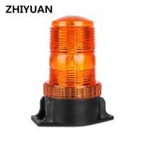 12-30V 트랙터 회전 깜박이 빛 30 LED 스트로브 트래픽 경고 빛 PC 비상 사태 안전 알람 비콘 amber1 라운드