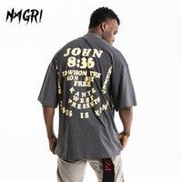 Kanye Vintage Beversian T рубашка Мужчины 3D Письмо Печать Иисуса есть король Хараджуку Летняя хип-хоп улица o шеи верхние тройники с коротким рукавом 1117