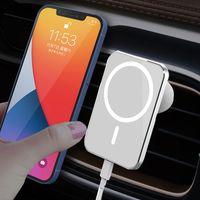 15W 마그네틱 무선 차량용 충전기 공기 환기 마운트 adsorbable 전화 자동차 홀더 아이폰 12 미니 12 Pro max magsafe 빠른 충전