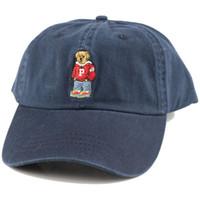 Envío gratis Nueva llegada Visor curvado Casquette Casco de béisbol Mujeres Gorras Snapback Caps Bear Pap Polo Polo Sombreros para Hombres Hip Hop