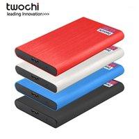 """TwerChi HDD 2.5 """"Disco duro externo 320 GB / 500GB / 750GB / 1TB / 2TB USB3.0 Almacenamiento compatible para PC, Mac, Escritorio, Laptop, 1"""