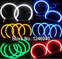 Pamuk LED Melek Gözler Halo Halka Kiti için E36 E38 E39 E46 Coupe Sedan Lada Vaz BA3 2106 Beyaz Mavi Amber Kırmızı Yeşil 5 Renkler1