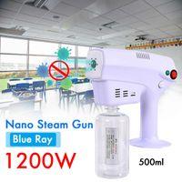 1200W 500ML Household Portable Wireless Fogging Sprayer Blue Light Nano Steam Spray Gun Disinfection Machine 110V 220V