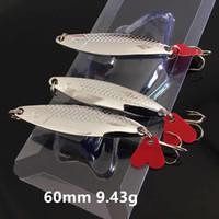 1pc cuillères cuillères de cuillères en métal 60 mm 9,43 g 6 # Crochets de pêche PESCA Pêche Tackle B86_92