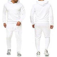 Erkek Eşofman Mektup Baskı Polar Sweatsuits Moda Hommes Jogger Fit Suits Pollover Kapşonlu Hoodies Rahat Uzun Pantolon Kıyafetler Zrtz2JT