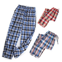 Pijamas simples Homens Algodão Outono Pijama Homens Calças Pijamas Sexy Coreano Sleepwear Noite Terno Atacado XL-3XL