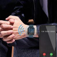 P40 1,65 pouces Touch Smart Montre Smart Men Femmes Fitness Tracker Bluetooth Appelez SmartWatch pour Xiaomi Téléphone VS W26 P8