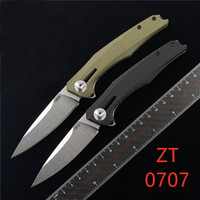 """Sıfır Tolerans ZT0707 0707 Rulman Bıçak 3.5 """"CPM-20CV Damla Nokta Bıçak, Micarta Açık Kamp Avcılık EDC Pocket Bıçak Kolları"""