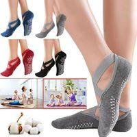 女性の滑り止めフィットネスダンスピラティス靴下専門屋内ヨガ5つま先バックレス運動バレエレディトレーニングアクセサリーCCA12633