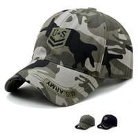 EE.UU. Ejército Fan Snapbacks Sun Montañismo Hat Tactical Camuflaje Sombrero Deportes al aire libre CAMPO DE BÉISBOL CYZ2946