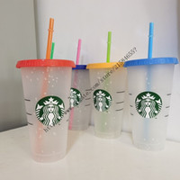 5pcs 1set 24OZ Tumblers Plastic Drinking Juice Cup With Lip ...