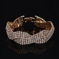 Bracciali di fascino 2021 Fashion Shiny Rhinestone Crystal Bridal Accessori da sposa Braccialetto Regalo di San Valentino 171123-5