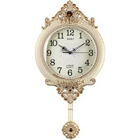 Duvar Saatleri Avrupa Salıncak Saat Basit Modern Dilsiz Vintage İzle Oturma Odası Dekorasyon Altın Yaratıcı Kuvars Ev W6C