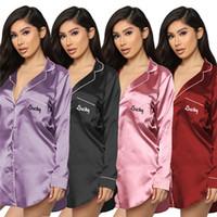 Mulheres Sleepwear Uma peça Comforful Fashional Clássico Impresso Sleepwear Vestidos de Alta Qualidade Camiseta Atacado Muito Quente KLW5798