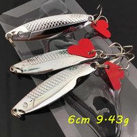 1 pc prata vib colheres de metal iscas 6cm 9.43g 6 # ganchos de pesca pesca pescar tackle sf_36