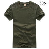 Camiseta del ejército Camiseta militar Táctica Camiseta táctica Verde de los hombres urbanos para hombres Uniforme de carga de manga corta Tee negro C0119