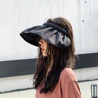 مصمم قبعة الشمس الصيف متعددة الوظائف المرأة الشعر هوب cps ذيل حصان uv حماية واسعة بريم طوي الكبار السيدات فام بيتش 2020