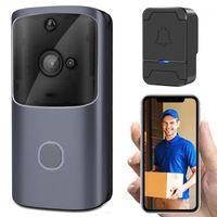 Doorbells Smart Home Wireless Video Doorbell 720p WiFi Seguridad Sensor infrarrojo InterCom Vision Mobile App Mobile Talk Viewer1