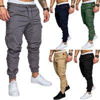 Lingdeng 2019 outono casual multi bolsos calças táticas calças do exército dos homens esportes longos calças calças
