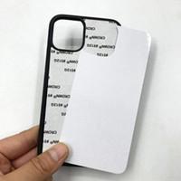 Neueste leere 2D-Sublimations-TPU-PC-Telefonkasten für iphone 12 mini 11 pro x xs max xr 7 8 6 plus se mit aluminiumeinsätzen