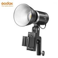 Godox ML60 60W LED Mode lumineux Mode silencieux Portable Réglage de la luminosité de luminosité Li-ion avec alimentation en courant alternatif Light Light1